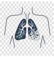 silhouette of lung disease vector image vector image