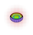 Tennis stadium icon comics style vector image vector image