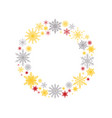 the wreath snowflakes new year christmas frame vector image