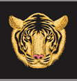 tiger face embroidery vector image vector image