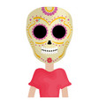traditional katrina mexican character vector image vector image