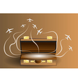 travel with suitcase vector image
