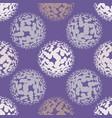 ultra violet halftone circles seamless pattern vector image vector image