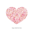 Valentines Card with heart vector image vector image