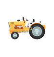 vintage farm tractor isolated vector image vector image