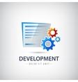 wed design development logo icon vector image
