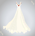 wedding dress and necklace vector image vector image