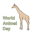 world animal day concept vector image