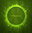 Hand drawn grunge green background vector image