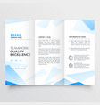 abstract blue business tri fold brochure design vector image vector image