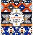 american indian ornate pattern design vector image