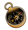 ancient compass in cartoon style vector image vector image
