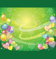 background with balloons green vector image vector image