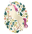 beautiful unicorn magic print background vector image vector image