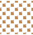 boxes in warehouse pattern seamless vector image vector image