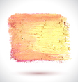 Brush Pink Yellow vector image vector image