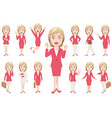 businesswoman in different poses vector image vector image