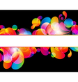 Card background Abstract bright color drops and vector image vector image