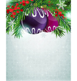 Christmas baubles with holly berry vector image vector image