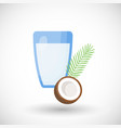 coconut milk flat icon vector image vector image