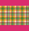 colors madras plaid textile texture seamless vector image vector image