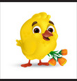 cute and sweet happy easter bachick vector image vector image