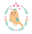 Cute bird print for kids vector image vector image
