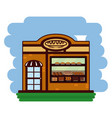 delicious bakery cartoon vector image