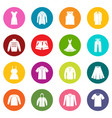 different clothes icons many colors set vector image vector image