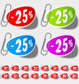 discount percent labels vector image vector image