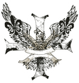 eagles cross and shield emblem vector image vector image