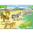 educational game african savannah animals vector image vector image