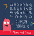 english abc letters numbers and symbols vector image
