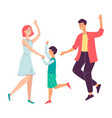 family celebration with parents and child flat vector image vector image