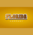 florida western style word text logo design icon vector image