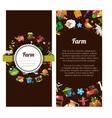 flyer template of modern flat design farm vector image