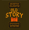 font old story vector image