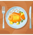 Fresh fish healthy dinner Delicious dish vector image