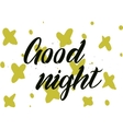 Good night inscription Greeting card with vector image vector image