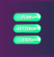 green board for game menu interface vector image vector image