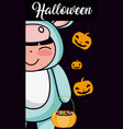 halloween kid cartoon vector image