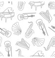 hand drawn musical instruments seamless pattern vector image vector image