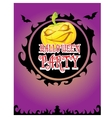 happy halloween card design template vector image