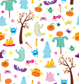 Happy Halloween seamless pattern with pumpkins vector image vector image