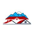 home mountain vector image