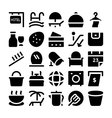 Hotel and Restaurant Icons 12 vector image vector image