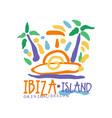 ibiza island logo template original design exotic vector image vector image