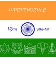 india independence day concept banner in line vector image