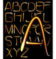 light alphabet vector image vector image