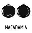 macadamia icon simple style vector image vector image